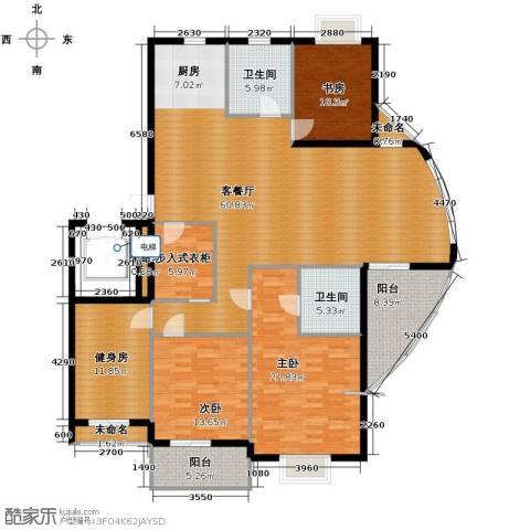 金海・香滨湾3室1厅2卫0厨180.00㎡户型图