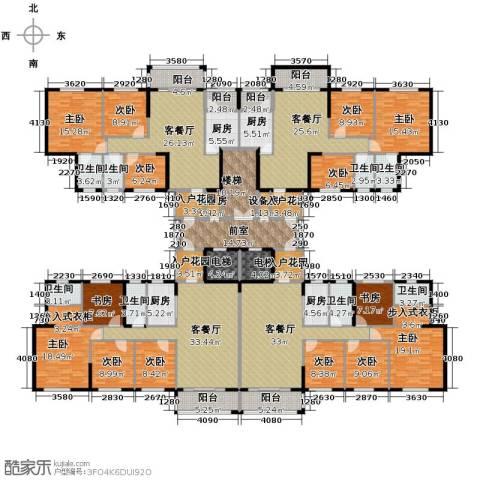 东海名都9室4厅8卫4厨551.00㎡户型图