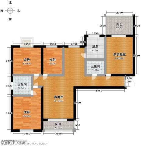 东方罗马花园3室1厅2卫1厨121.00㎡户型图