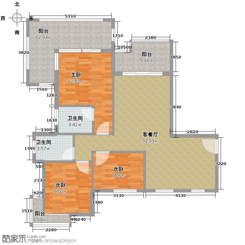 凤凰水城御河湾184.00㎡TG-1a16F户型4室3厅4卫