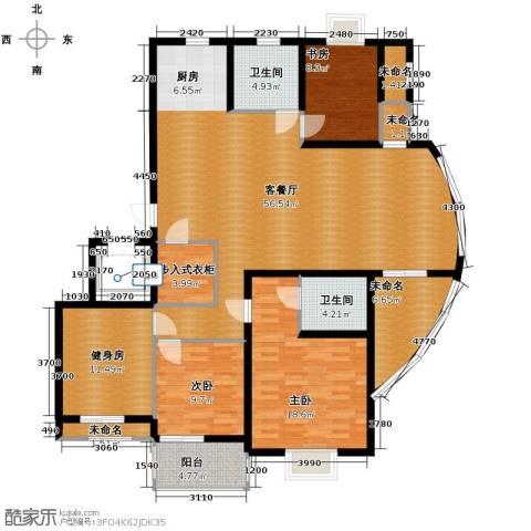 金海・香滨湾3室1厅2卫0厨165.00㎡户型图