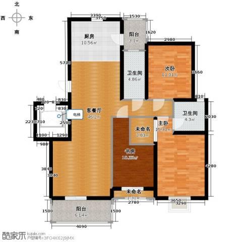 金海・香滨湾3室1厅2卫0厨136.00㎡户型图