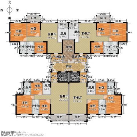 东海名都9室4厅8卫4厨486.00㎡户型图