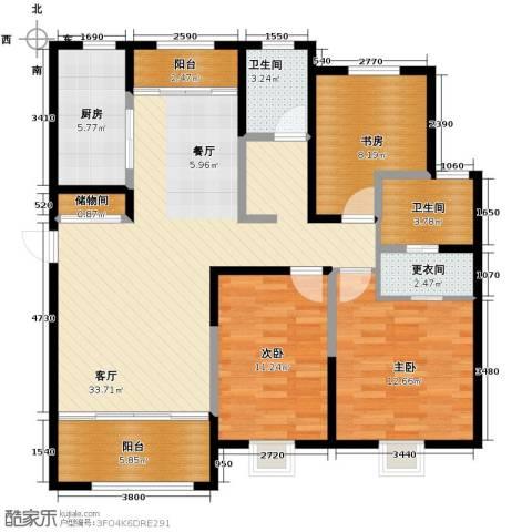 恒盛豪庭3室2厅2卫0厨143.00㎡户型图