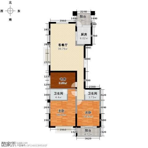 云龙十一景3室1厅2卫1厨148.00㎡户型图