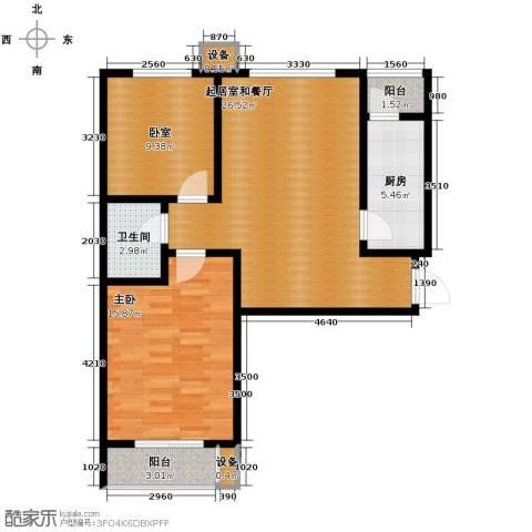 珠峰国际花园三期1室0厅1卫1厨93.00㎡户型图