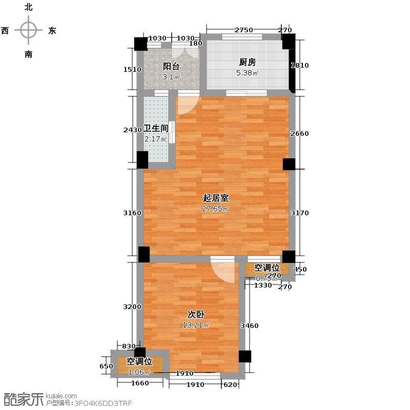 宏图上水庭院124.00㎡平层公馆标准层AY复式户型3室2厅2卫
