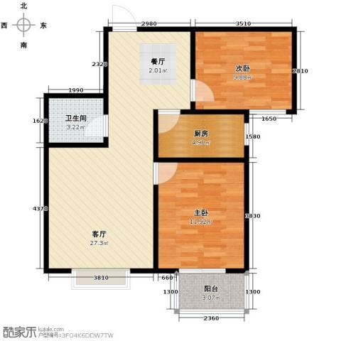 天地荣域2室2厅1卫0厨89.00㎡户型图