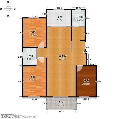 柠檬郡3室1厅2卫1厨125.00㎡户型图