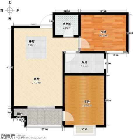 天地荣域2室2厅1卫0厨83.00㎡户型图