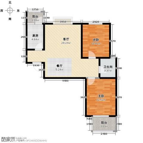 天地荣域2室2厅1卫0厨93.00㎡户型图