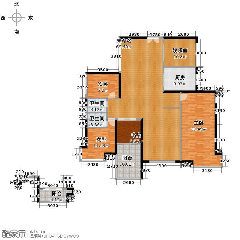 港隆国际131.85㎡D单位户型4室2厅3卫