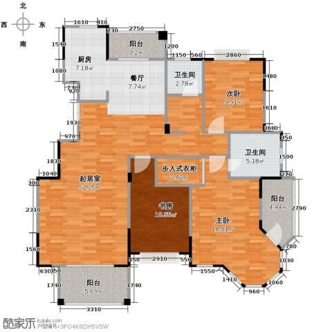 水岸新都花苑3室0厅2卫0厨129.00㎡户型图
