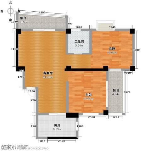 永利商住公寓1厅1卫1厨85.00㎡户型图