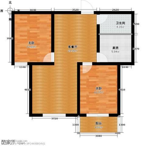 柠檬郡2室1厅1卫1厨95.00㎡户型图