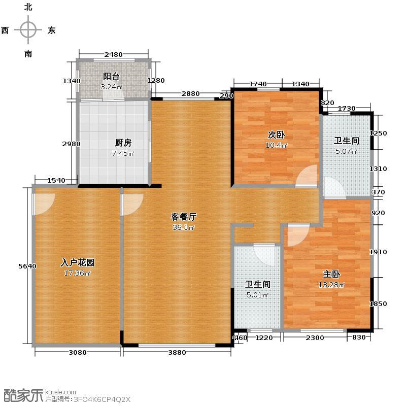 中信山语湖118.99㎡2/10座(7-19F)01单位户型3室2厅2卫