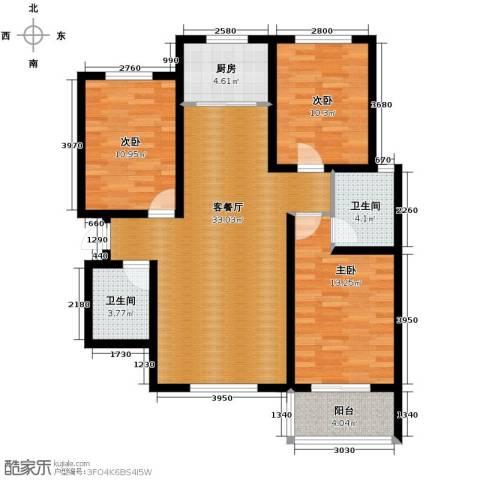 柠檬郡3室1厅2卫1厨112.00㎡户型图