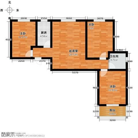 柠檬郡3室0厅1卫1厨113.00㎡户型图