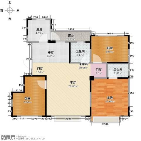 力旺美林1室0厅2卫1厨121.00㎡户型图