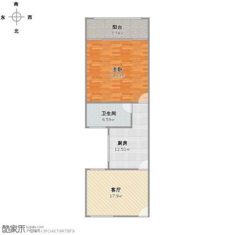 政熙路68弄小区1室1厅1卫1厨92.00㎡户型图