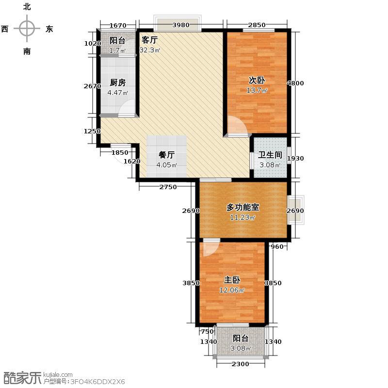 天地荣域117.01㎡O新贵领地6#户型3室2厅1卫