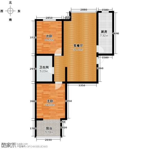 天洲视界城2室2厅1卫0厨97.00㎡户型图