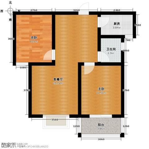 天洲沁园3室2厅2卫0厨87.00㎡户型图