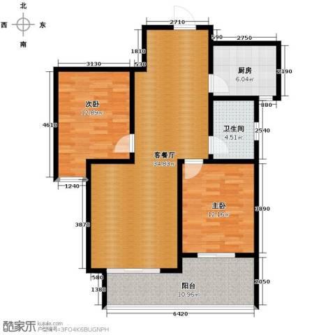 天洲视界城2室2厅1卫0厨89.00㎡户型图