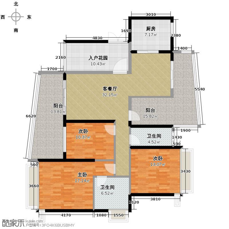 顺德雅居乐花园114.00㎡E01&E02户翡翠假日户型10室