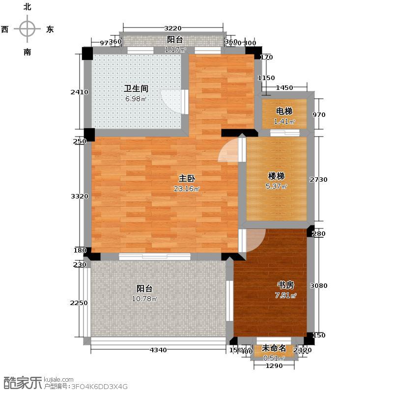宏图上水庭院67.58㎡联排H-C三层户型10室