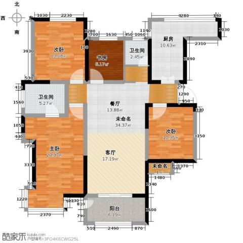 城建琥珀五环城4室2厅2卫0厨140.00㎡户型图