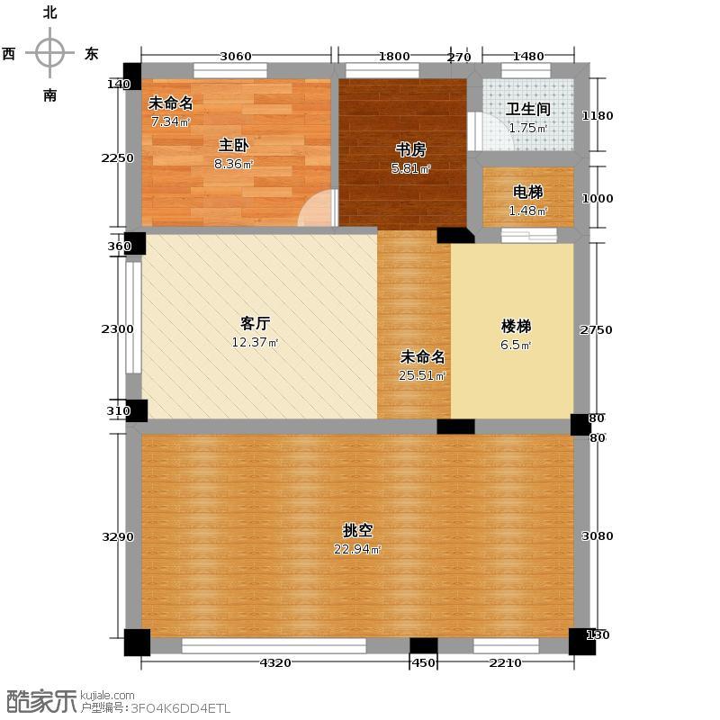 宏图上水庭院66.91㎡联排H-C二层户型10室