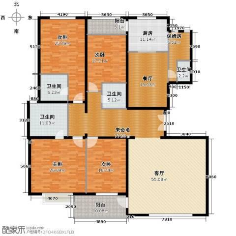 建投十号院5室2厅4卫0厨241.74㎡户型图