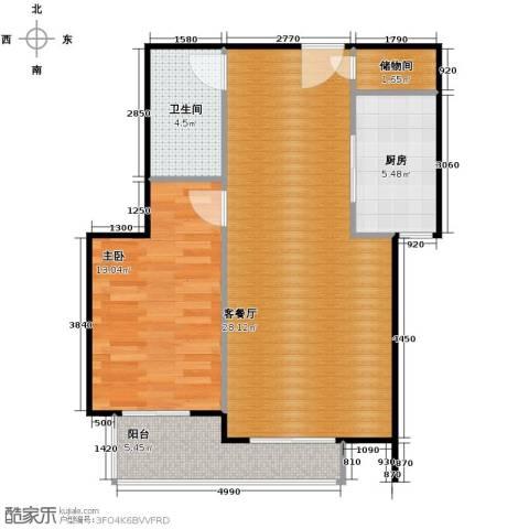 御景阁1室2厅1卫0厨78.00㎡户型图