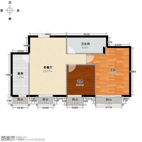 西美五洲天地2室2厅1卫0厨90.00㎡户型图