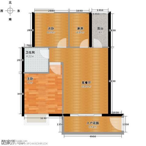 东方海岸2室2厅1卫0厨81.00㎡户型图