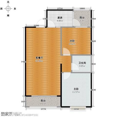 尚品居2室2厅1卫0厨94.00㎡户型图