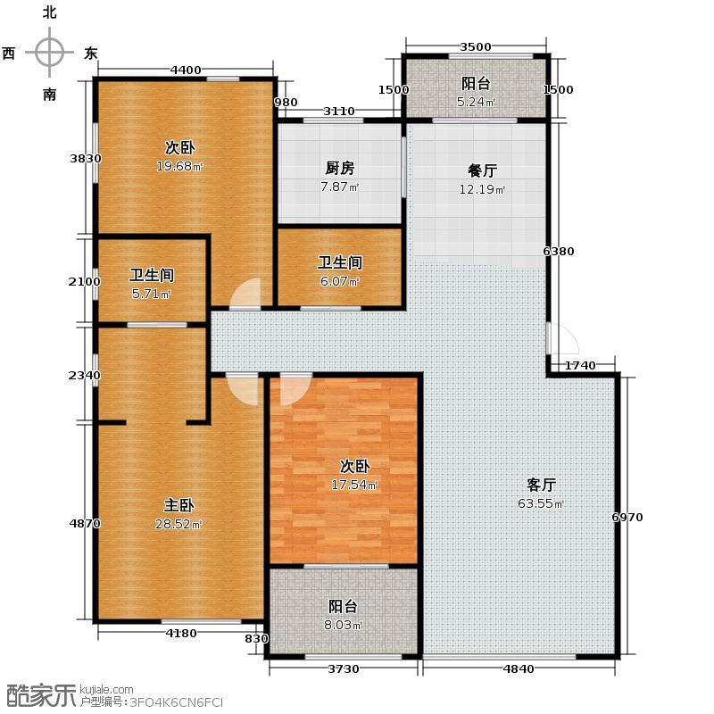 梧桐花园205.42㎡C5奢华户型3室2厅2卫