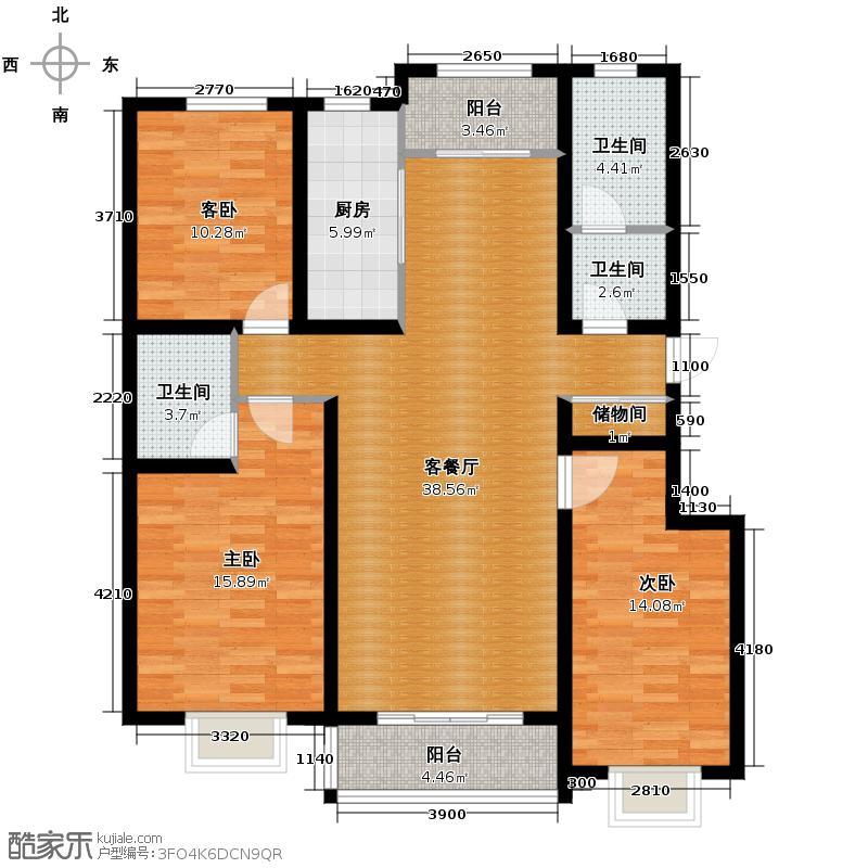 心海湾二期119.85㎡2#-B户型10室