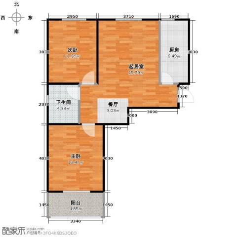 柠檬郡2室0厅1卫1厨81.00㎡户型图