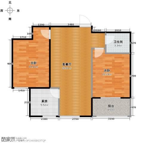 柠檬郡2室1厅1卫1厨85.00㎡户型图