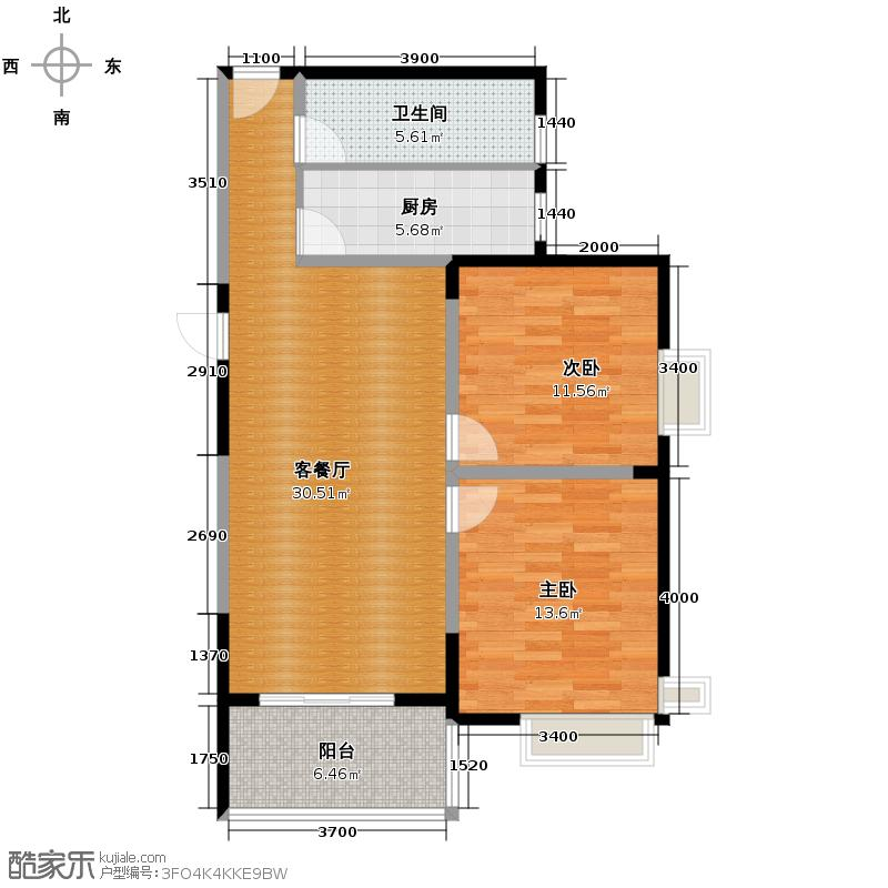 长庆兴盛园99.00㎡兴盛园户型2室1厅1卫1厨