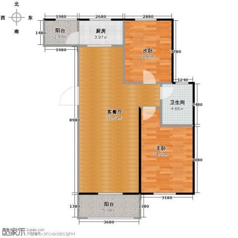 柠檬郡2室1厅1卫1厨91.00㎡户型图