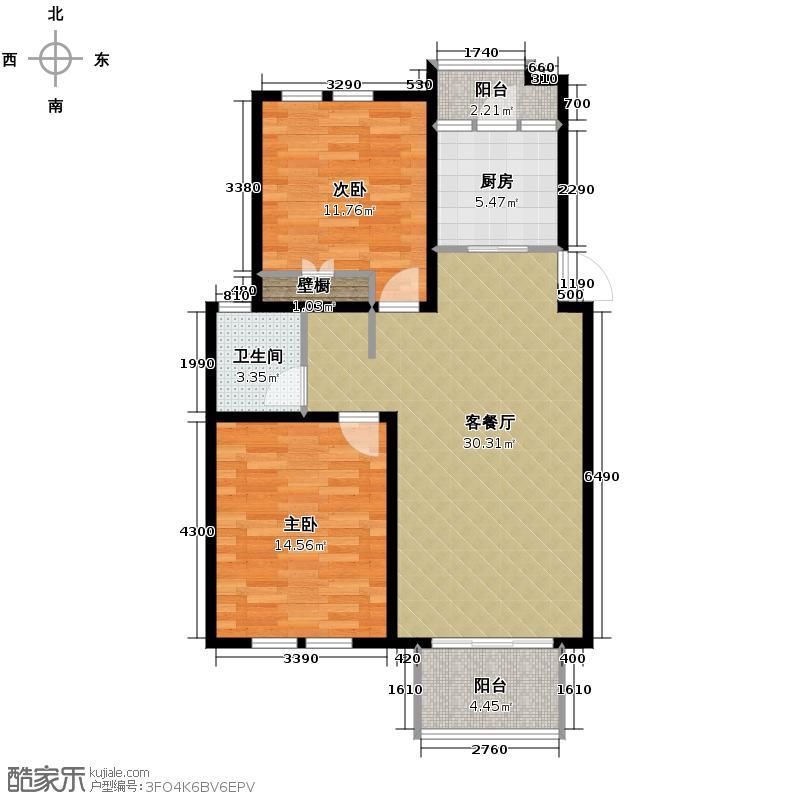中豪天禄91.00㎡甲-1户型10室