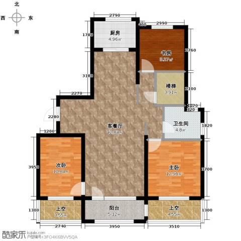 朗诗保利麓院3室2厅1卫0厨146.00㎡户型图