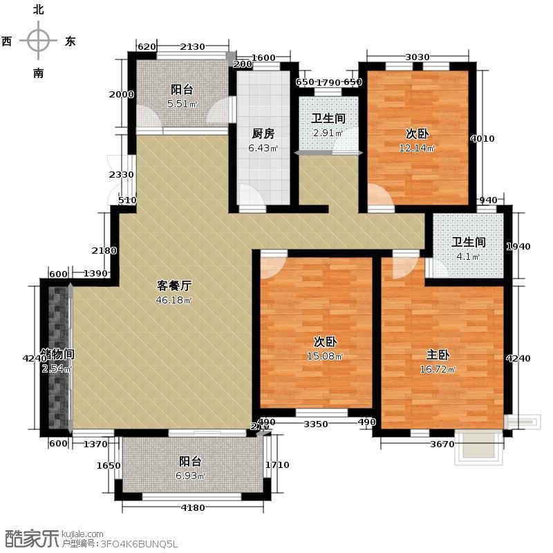 中豪天禄136.10㎡户型10室