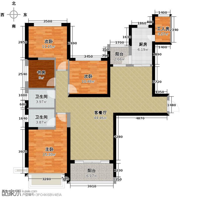 恒大御景半岛142.62㎡4/6/7号楼2单元三室户型3室2厅2卫