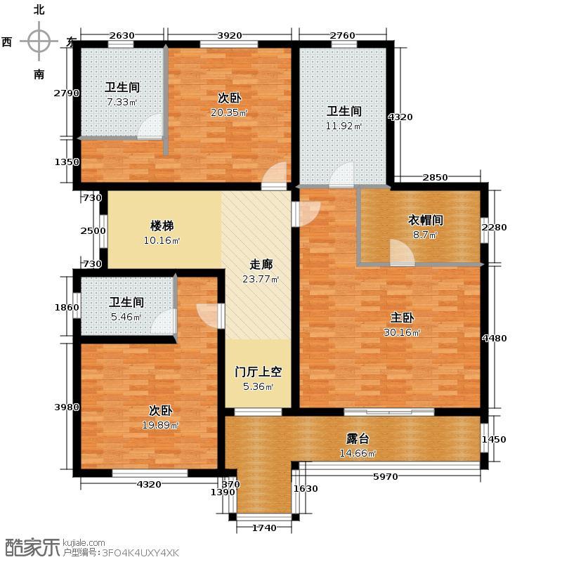 湖光山社469.00㎡独栋D3二层户型3室3卫