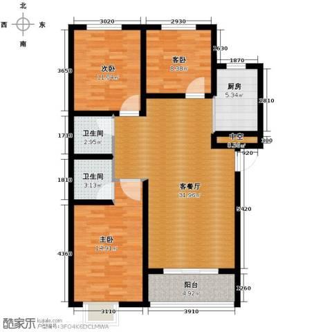 绿朗时光3室2厅2卫0厨115.00㎡户型图