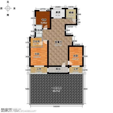朗诗保利麓院3室2厅2卫0厨217.00㎡户型图